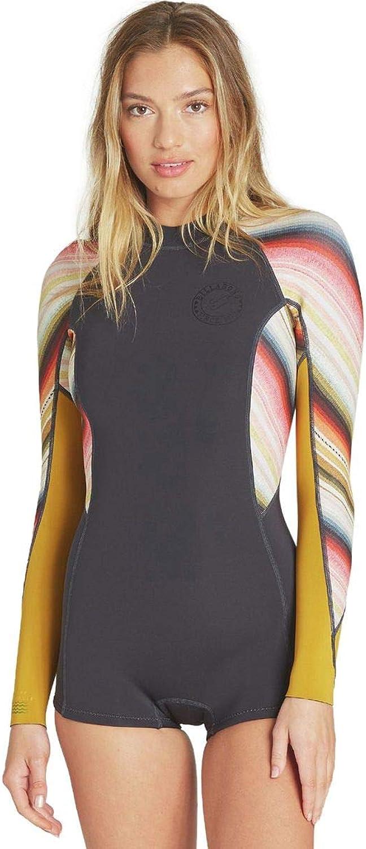 BILLABONG Womens Spring Fever Long Sleeve Springsuit One Piece Swimsuit