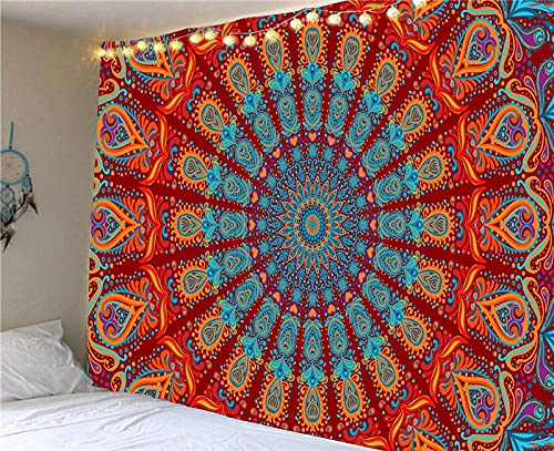 QAWD Mandala Tapiz Bohemio Hippie Colgante de Pared Escena psicodélica brujería Fondo Tela Manta Tela Colgante A10 150x200cm