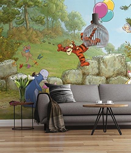 Sunny Decor - Disney - fotobehang Winnie Pooh Ballooning - 368 x 254 cm - behang, muurdecoratie, Winnie Puh - SD460, bont