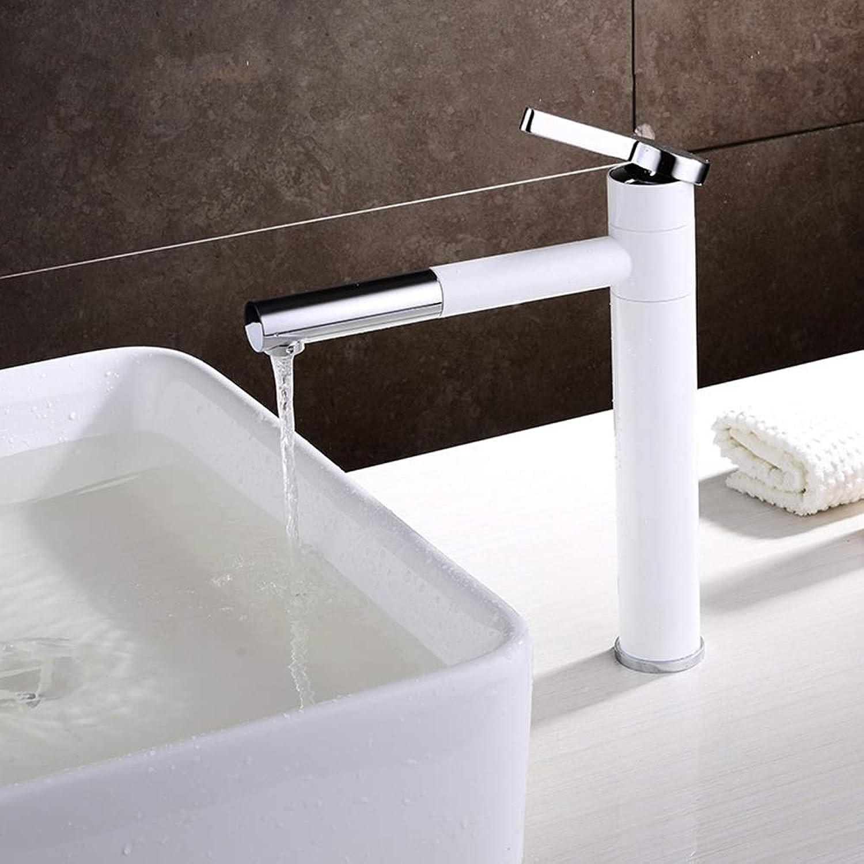 Dauerhaft Becken-Badezimmer-weier Wasserhahn-einzelne Tischplatte-Becken-Zug-Hahn Einfach Zu Subern