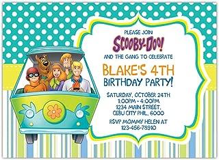 custom scooby doo birthday invitations
