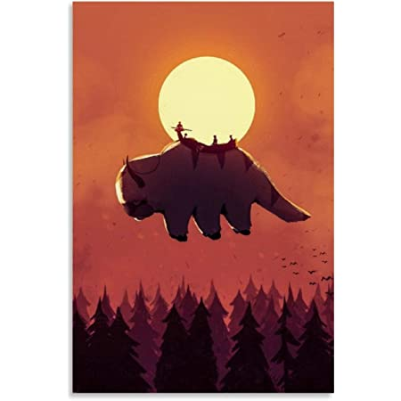 Amazon Com Avatar The Last Airbender Aang Poster Flying Appa Poster 11x17 16x24 24x36 No Frame Wall Art Print For Home Decor Posters Prints