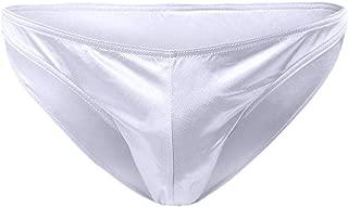 Greatfun Underwear Men's Sexy Underwear Lmitation Leather Lacquer Breathable Pants Sexy Underwear Nylon Soft Stretch Briefs Black