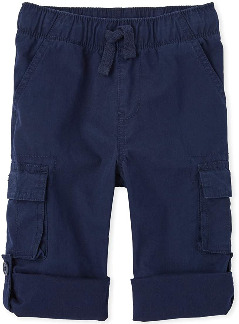 The Children's Place Boys' Baby and Toddler Roll Up Pull on Cargo Pants