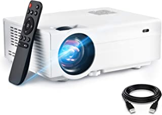 FunLites Video Projector ,4900 Lux 1080P Supported Projector, 60,000 Hours Lamp Life with Synchronize Smartphone Screen, C...