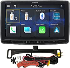 """Alpine iLX-F259 Halo9 9"""" Single Din Mech-Less Digital Media Receiver and HD Backup Camera Safe Driver's Bundle. Car Stereo with Bluetooth, Apple CarPlay/Android Auto, SiriusXM Compatible"""