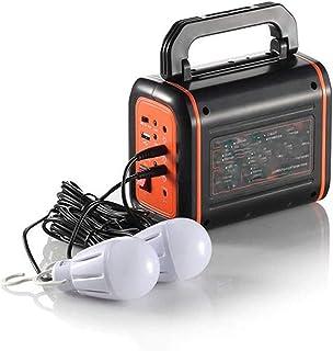 مولدات خارجية من CHUXJ ، وحدة طاقة محمولة 8000 مللي أمبير في الساعة مع مصباح USB وقطعتين 3 واط ، يتم شحنها بواسطة لوحة شمس...