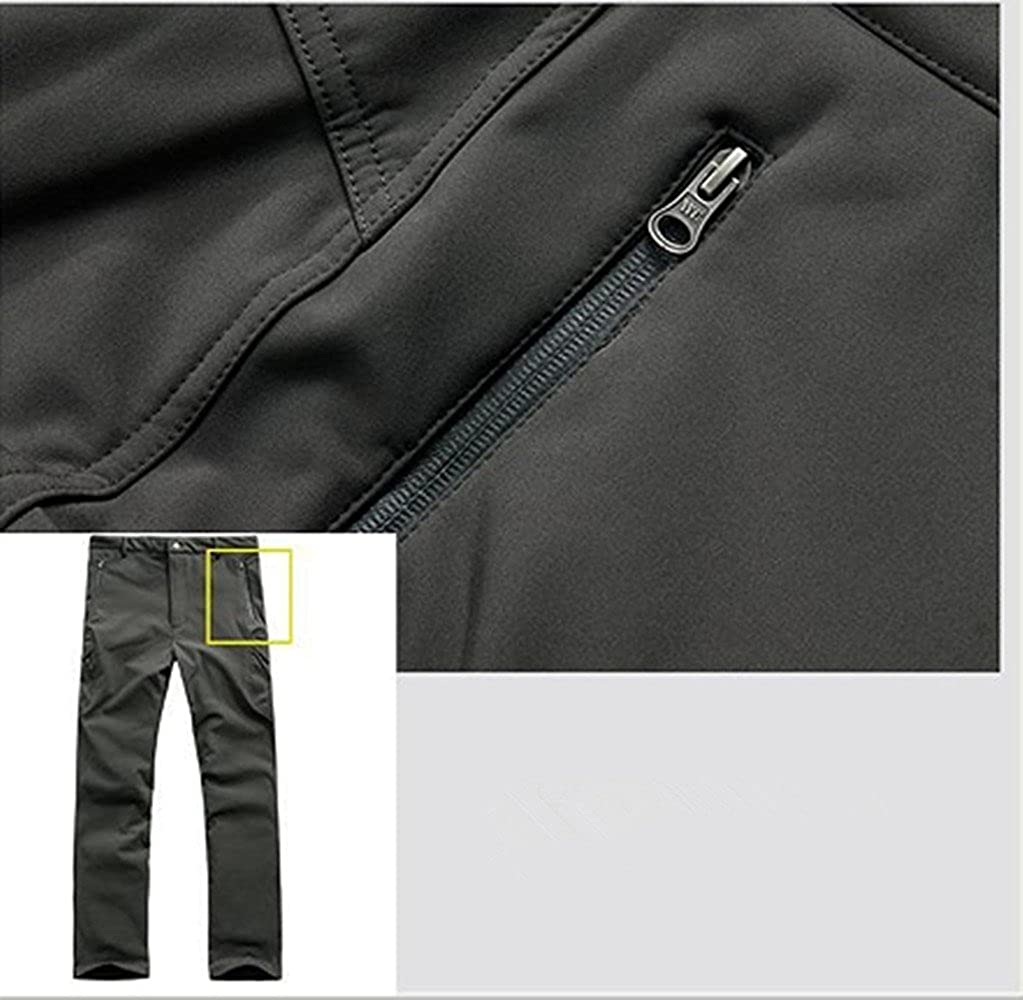 NoGa Herren Outdoorhose Jagd Camping Wasserdicht Haifischfell Soft Shell Camouflage Tactical Fleece Gef/üttert Warm Verschlei/ßfest Casual Pants Hose