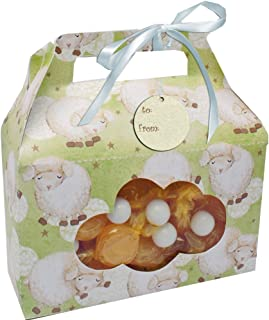 Creative Converting Baby Shower Ba Ba Baby 2 Count Cookie/Candy Treat Carrying Box with Window