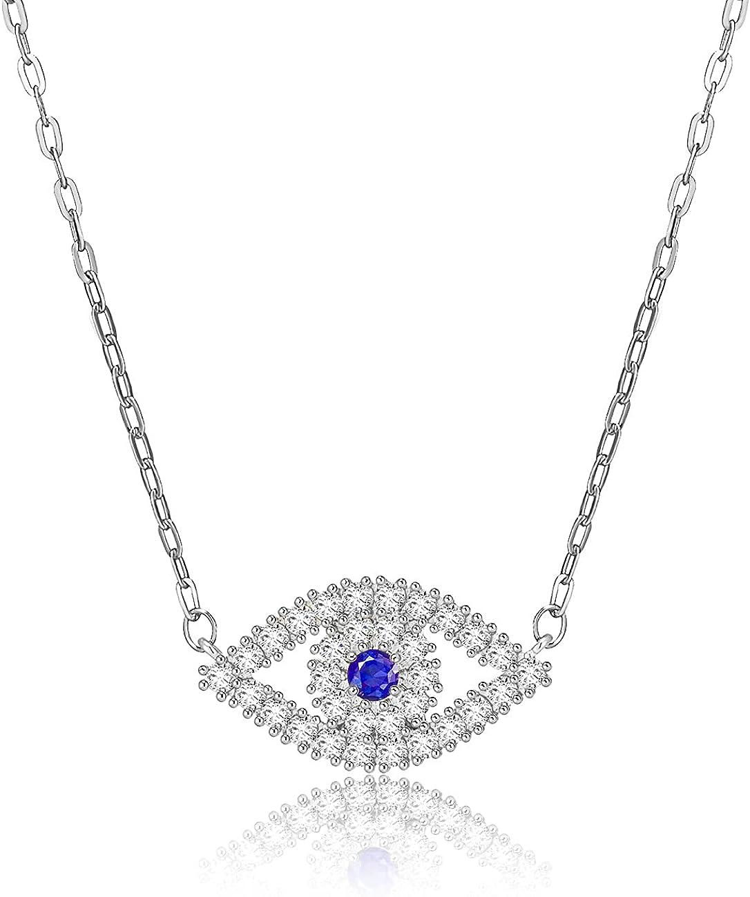 Apsvo Dainty Evil Eye Pendant Cross Necklace Max 83% OFF Very popular Infinity