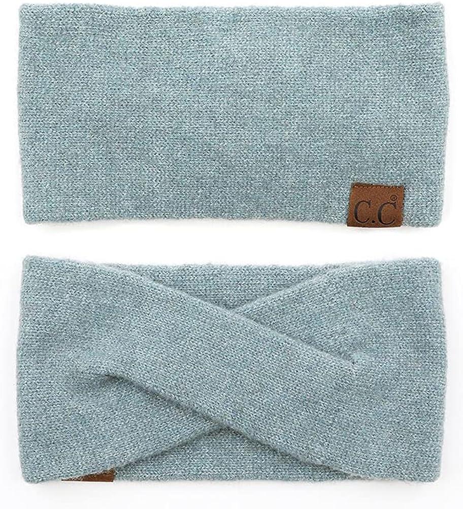 ScarvesMe Women Soft Recycled Fine Yan Cuff Warm Knit Headband Headwrap
