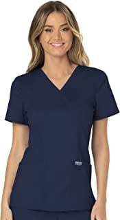 Workwear Revolution Mock Wrap Scrub Top