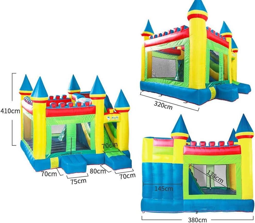 Color : Color, Size : 380 * 320 * 410cm H/üpfburgen Garten Kindertrampolin Freien Kinderpark Kinderspielplatzausstattung f/ür Kinder Jungen und M/ädchen Kinderspielzeug Fitnessger/äte f/ür Kinder