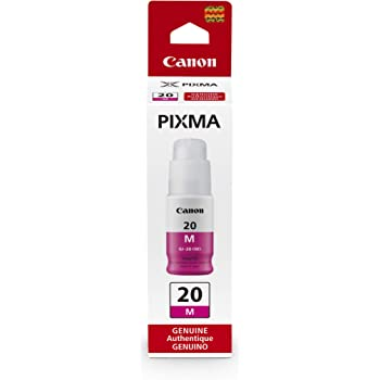 Canon GI-20 Magenta Ink Bottle, Compatible to PIXMA G6020 and G5020 MegaTank Printers, Mega Ink Bottle