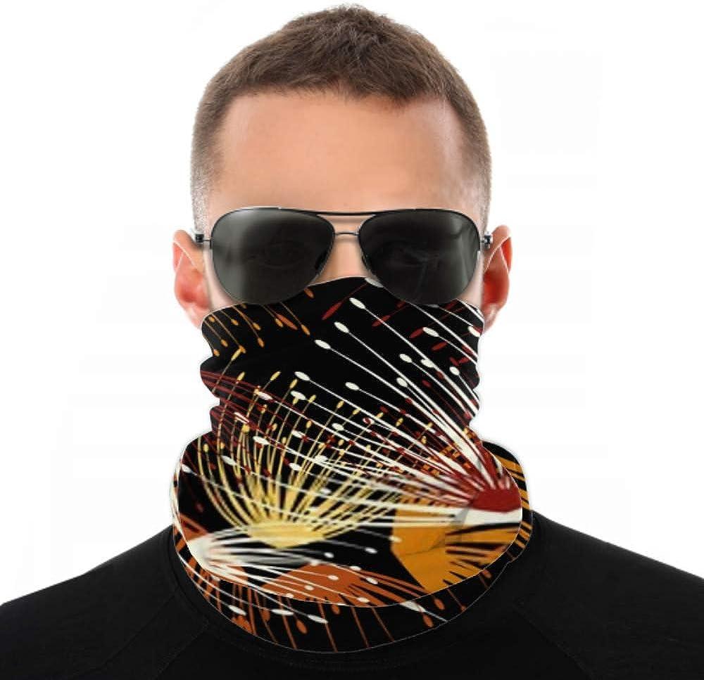 Headbands For Men Women Neck Gaiter, Face Mask, Headband, Scarf Beautiful Abstract Illustration Dandelion Seamless Flower Turban Multi Scarf Double Sided Print Women Headbands For Sport Outdoor
