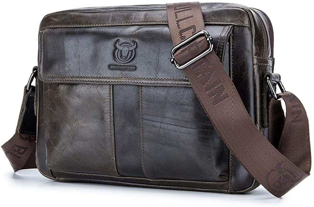 Men's Shoulder Bag All Year-end annual account stores are sold Cross-Section top iPa Layer Briefcase Cowhide