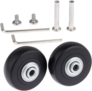 Mtsooning 2Set 50x18mm Luggage Suitcase Replacement Wheels with Axles Wrench Bearings Repair Kit