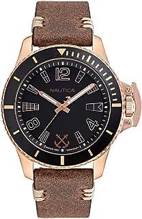 Relógio Nautica Masculino Couro Marrom - NAPBSF915WW