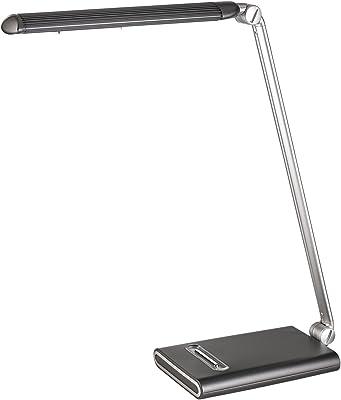 Alco 9216Classe énergétique A, lampe de table LED, env. 40cm, noir/argent, Aluminium, Anthrazit Silber, 45 x 15 x 11 cm