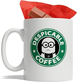 Bijouland - Minions Coffee - Despicable Coffee - Ceramic Coffee Mug, Cute and Funny Cup, White - 11 Oz, Made in USA