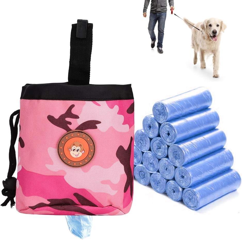 3 YOUTHINK Bolsa de Bocadillos para Perros Bolsa para Cachorros de Perros para Mascotas Comida para Caminar Bolsa de Bocadillos Entrenamiento Cintura Almacenamiento Bolsillos de Retenci/ón