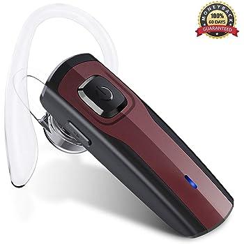 Bluetooth Headset, Wireless Headset Bluetooth V4.1 Freisprechanlage Bluetooth Ohr Headset Handy Rauschunterdrückung Ohrhörer mit Mikrofon für Android /iPhone /Auto /LKW Fahrer Business Headsets