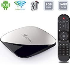 $32 Get Android TV Box, X88 PRO Android 9.0 2GB RAM/16GB ROM RK3318 Quad-Core Support 2.4G/5.0G WiFi Ethernet 10/100M DLNA 3D 4K Mini TV Box