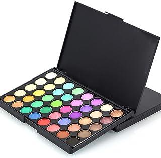 Dubocu 40 Colors Cosmetic Matte Eyeshadow Cream Makeup Palette Shimmer Set 40 Color+ Brush Set By Black A1