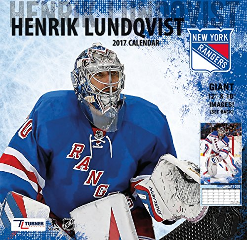 "Turner Licensing Sport 2017 New York Rangers Henrik Ludqvist Player Wall Calendar, 12""X12"" (17998011790)"