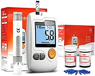 Dytxe-shelf Probador De Azúcar En Sangre Kit De Prueba De Diabetes con 50 Tiras De Glucómetro, 1 Medidor De Glucosa En Sangre, Máquina De Azúcar para Diabetes, Sin Codificación
