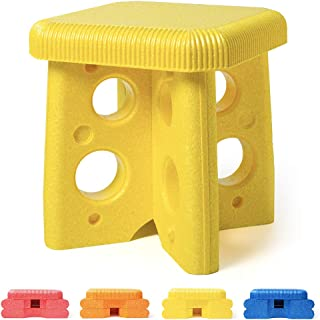Huisun Step Stool for Kids-Foam Sturdy Stepping Stools-Waterproof Safety for Adults, Kitchen, Bathroom, Portable Outdoors Easy to Assemble (Yellow)
