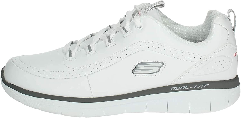 Skechers Men's Trainers White Grey