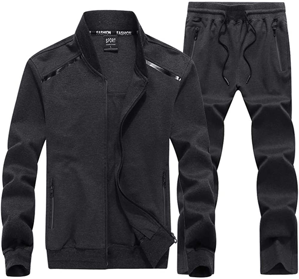 INVACHI Men's Casual 2 Pieces Athletic store Sets Sports Max 90% OFF Full Jack Zip