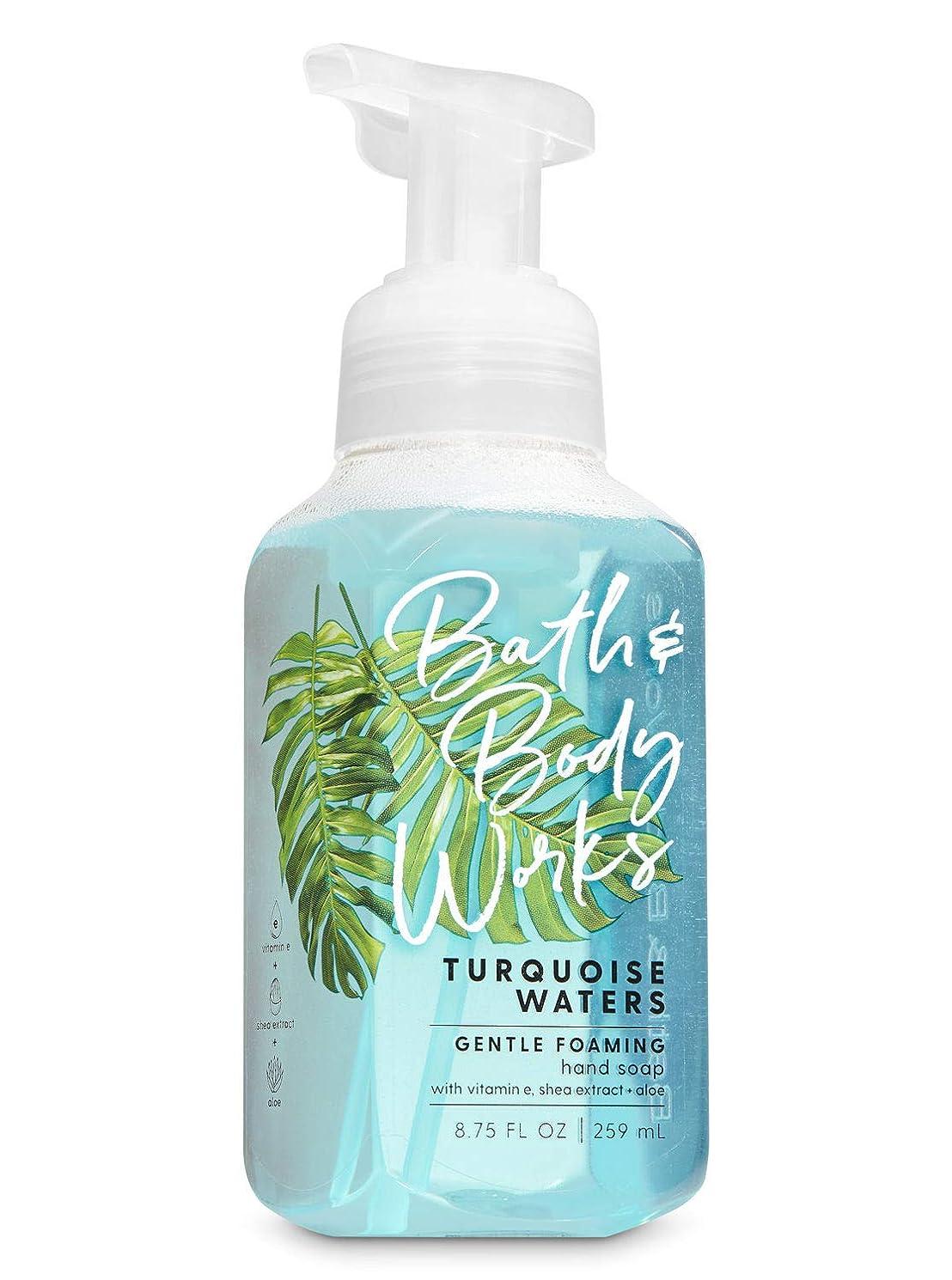 任命メタリック散歩バス&ボディワークス ターコイズウォーター ジェントル フォーミング ハンドソープ Turquoise Waters Gentle Foaming Hand Soap