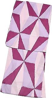 [ KIMONOMACHI ] オリジナル 浴衣2点セット「パープル レトロ幾何学模様」