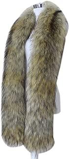 Men Women Winter Warm Faux Fox Raccoon Fur Collar Stole Long Scarf Shawl