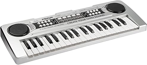 aPerfectLife 37 Keys Piano Keyboard for Kids Multifunction Portable Piano Electronic Keyboard Music Instrument for Kids Early Learning Educational Toy (Silver)