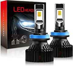 H11 LED Headlight Bulb with Fan CSP Chip, Rigidhorse Dual Color 3000K Yellow & 6500K White Light 60W 8000LM H8 H9 Fog Light All-in-One Conversion Kit, 2 Years Warranty