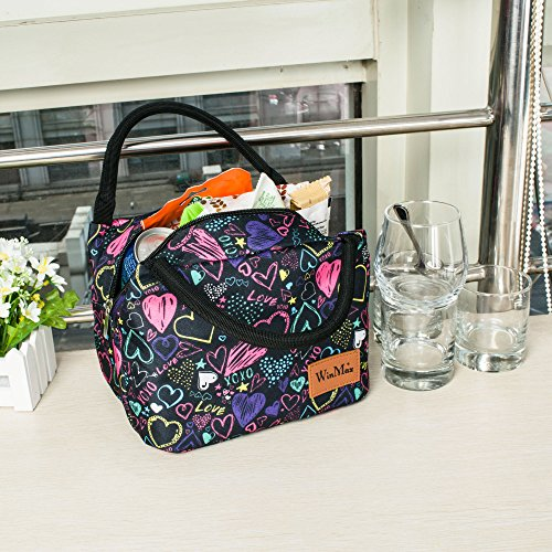 Reusable Insulated Lunch Bag by Winmax - Coloured Hearts