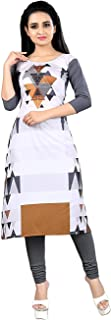Dhavan Creation Kurtis for Women Straight Printed Crepe