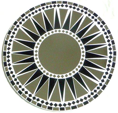 Asia Design Miroir Mural Miroir décoratif mosaïque einlegearbeit la Main 40 cm Ronde en Bois # 32