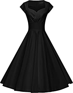 Womens Dresses Party Dresses 1950s Vintage Dresses Swing Stretchy Dresses