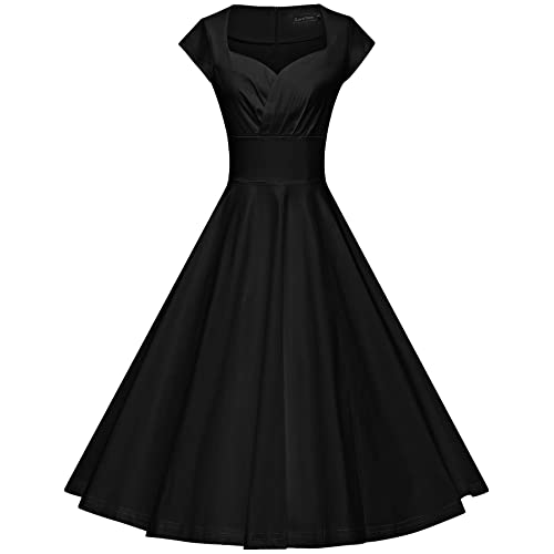 9d66b197a4 GownTown Womens Dresses Party Dresses 1950s Vintage Dresses Swing Stretchy  Dresses