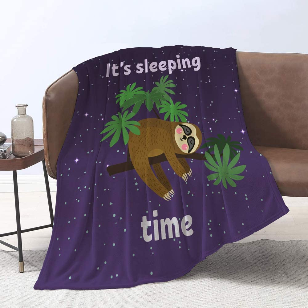 Lmorey Sleeping Sloth blankte Durable Bed Couch Popular popular San Francisco Mall Blanket Cozy Bo
