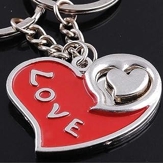 Send 2 Piezas, romántico Regalo de San Valentín Regalo Creativo en Forma de corazón para Parejas de Hombres y Mujeres, Colgante de Cintura de Moda