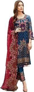 Women Designer Salwar Suit   Dress Material Unstitched   Ladies Salwar Kameez Kurta Pant with Heavy Dupatta   Ethnic India...