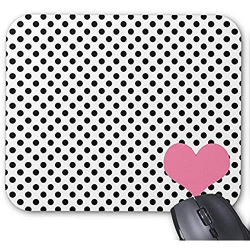 Smity Mouse Pad 30 x 25 x 0,3 cm muismat, modieus design, voor kantoor en gezin, zwart gestippeld