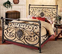 Hillsdale Furniture Mercer Bed Set with with Rails, California King, Antique Brown