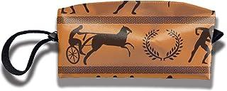 antcreptson Ancient Greek Olympics Portable Travel Storage Bags Clutch Wallets Pouch Coin Purse Zipper Holder Pencil Bag,K...