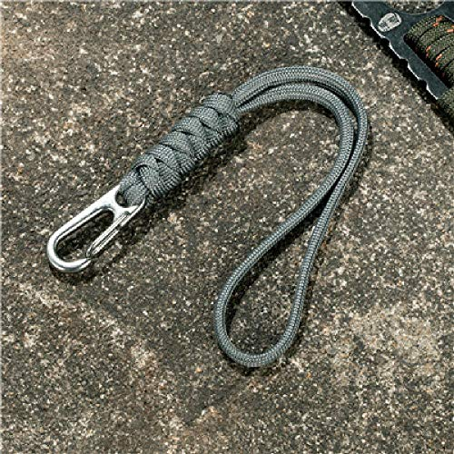 FBFGSurvival Pulsera Llavero al Aire Libre Camping Rescate Emergencia Cuerda Cuchillo Cuerda Linterna Cuerda